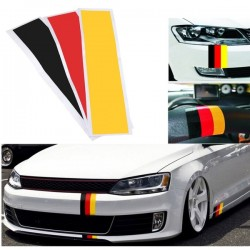 1 juego / 3 tiras Universal Black Red Yellow Color Germany